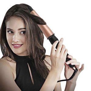 Fer à friser électrique, baguette de curling pour femme, fers à friser avec barils pour revêtement en céramique PTC Fer à friser professionnel (MQSS, neuf)