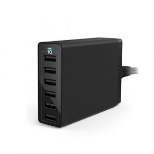 Anker Chargeur Secteur USB PowerPort 6 Ports 60W - Chargeur mural avec technologie PowerIQ, Adaptateur Secteur USB Chargeur de Voyage pour smartphones et tablettes: iPhone, iPad, Samsung et autres (AnkerDirect FR, neuf)