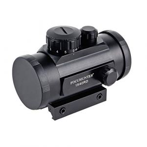 FOCUHUNTER Viseur Optique Fusil Lunette 5 réglages de luminosité Lunette de visée Tactique Rouge/Verte avec Montage sur Rail Picatinny 20 mm 11 mm pour la Chasse (FOCUHUNTER, neuf)