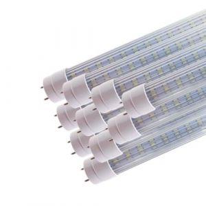 Tube Néon LED 120cm T8 20W (Pack de 10) - Blanc Froid 6000K - 8000K (SILAMP FR, neuf)