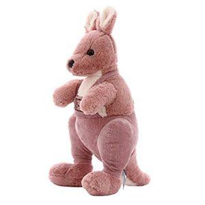 BSLIAO Peluche kangourou mignon en peluche kangourou poupée enfants cadeau d'anniversaire -30cm_Pink (lizhaowei531045832, neuf)
