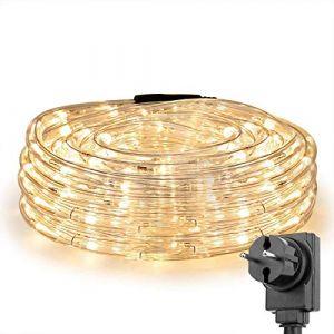 LE Tube Lumineux 10m, Guirlande LED Extérieure, Blanc Chaud, pour Décoration Intérieure Extérieure Jardin Terrasse Balcon Arbre (Home MART, neuf)