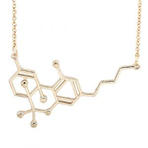 Merssavo Chimie Tous Les Jours Or Serotonin Collier Serotonine Molécule Collier Femmes Bijoux (styleinside-uk, neuf)