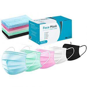 Masque chirurgical — Masques pour interventions médicales, masque anti-poussière, masque de protection contre la grippe, les allergies et le pollen (Vitafii Global, neuf)