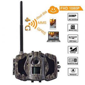 BolyGuard 4G Appareil-photo de traînée 30MP 1080P HD Wildlife Camera Scouting Caméra de chasse GPRS MMS GSM Vision nocturne numérique Infrared LED Enregistreur vidéo avec IP55 Water Protected Design (MG984G-30M) (BolyGuard Office Store, neuf)