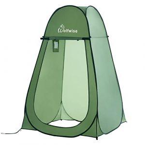 WolfWise Tente de Douche Toilette Cabinet de Changement Camping Abri de Plein Air Vestiaire Amovible Extérieure Intérieure, Vert (Viowind, neuf)