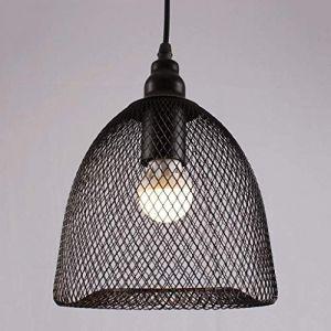 Dicai Creative Fer Métal Cage À Oiseaux Abat-Jour Lumière Rétro Salon Salle À Manger Cuisine Grange Entrepôt E27 Réglable Vintage Suspension Plafond (Xin Hongming, neuf)