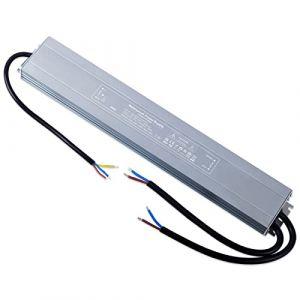 YAYZA! 1-Paquet Adaptateur ultra-mince compact pour pilote LED basse tension Étanche IP67 12V 25A 300W universel pour alimentation intérieur/extérieur à découpage CA/CC (ClickBuy Group, neuf)