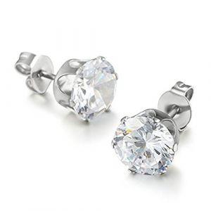 Demarkt 1 Paire Boucles d'oreille avec Zirconium Diamant Rhinestone pour Femme Homme (Demarkt, neuf)
