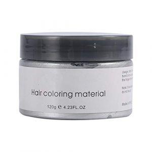 Cire de coloration pour cheveux modelant la cire de coiffure (Couleur : Gris) (Fictory-EU, neuf)