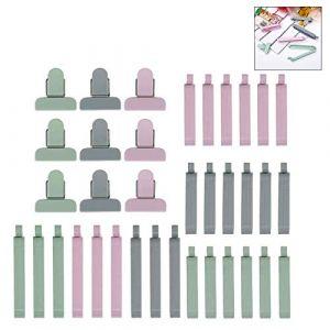 iwobi 36 Pcs Pince Sachet,Alimentaire d'étanchéité Clips Fermeture pour Emballage Cuisine (Nanxin-EU, neuf)