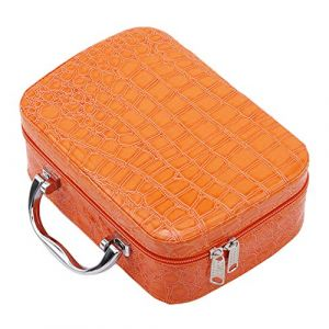 EJY Voyage Portable Sac Cosmétique Organisateur Femmes Cas Cosmétique Avec Miroir(Orange) (88_Store, neuf)