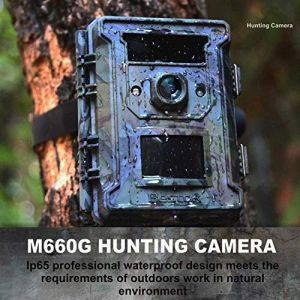Bestok Caméra de Chasse 12MP HD Infrarouge 65ft Vision Nocturne Animaux Caméra de Surveillance 940nm IR LEDs Basse Luminosité 120°Grand Angle Imperméable IP65 (M660g-8GB) (ProElec2005, neuf)