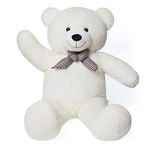 YunNasi Peluche Geante Nounours Géant Ours en Peluche Ours Jouet Enfant 120cm,Blanc (Le Rhin, neuf)
