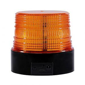 Appow Gyrophare Orange LED, Phare d'Avertissement Clignotant magnétique pour véhicule avec Prise Allume-Cigare 12 V-80 V - sans Fil Ambre (Antom  EU, neuf)