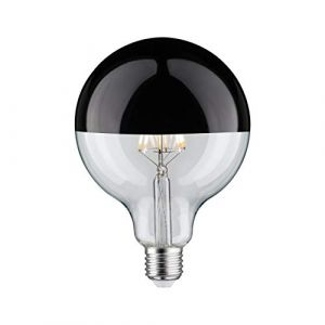 Ampoule LED Globe 125 à filament E27 - 5W - 2700K - 520lm - Dimmable - Calotte chrome noire (forhouse de, neuf)