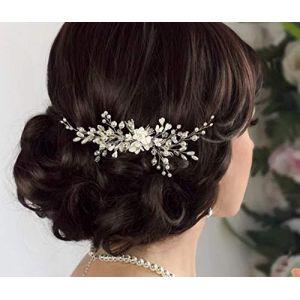 Deniferymakeup élégante Femme mariée Peigne à cheveux de mariage Peigne Perle Cheveux Peigne Mariage Cheveux de mariage Coiffe de mariage Accessoires (Deniferymakeup, neuf)