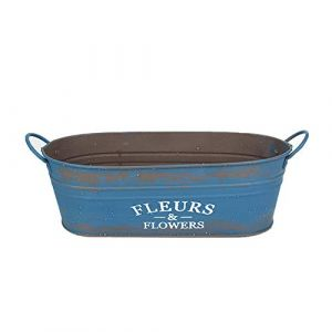 Vi.yo. Pot de Fleurs Charnu Fer Fleur Panier Jardinage Plante en Pot Vase Maison Balcon Décoration Fer(Bleu) (Dankashan, neuf)