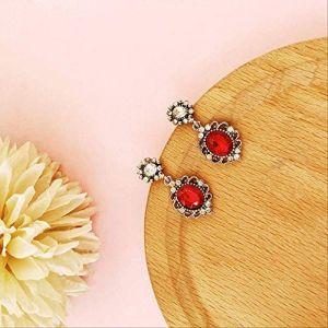 cadeaux boucles d'oreilles gland rouge perle boucles d'oreilles déclaration géométrique boucles d'oreilles cadeau boucle d'oreille vintage fleurs amour pour les femmes10 (Graceguoer, neuf)