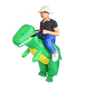 Estink Déguisement Gonflable de Dinosaure Adulte Déguisement Gonflable de Dinosaure Costume Gonflable pour fête Halloween Cospaly Carnaval Mascarade (Iskip, neuf)