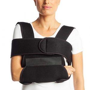 Écharpe de bras de ArmoLine - En tissu respirant - Pour bras ou poignet cassé - Immobilisateur d'épaule - Coloris noir - Pour adulte (Medical Import Ltd., neuf)