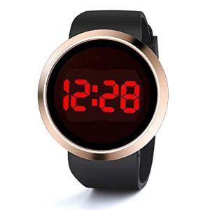 Montre Mode! Kettal Neutral Digital LED Watch Vente de Liquidation de Montre pour Femme Silicone-A26 (Noir) (KEATTL, neuf)