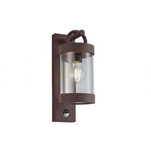 Applique murale d'extérieur LED avec détecteur de mouvement Lanterne aspect rouille (setpoint, neuf)