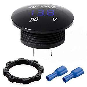Voltmètre Digital Voiture,12V avec Affichage à LED pour CC12V 24V Voiture Moto Camion Bateau 1 Lot Bleu (Etrogo, neuf)
