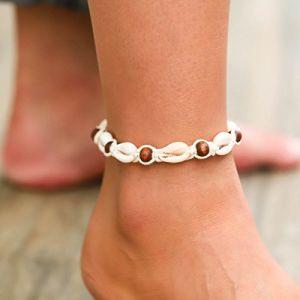 Simsly Shell Bracelet de cheville Pied Chaîne Accessoires Bijoux réglable pour femmes et filles Jl-045 (Simsly-UK, neuf)