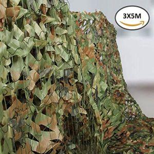 hootecheu Filet de Camouflage pour Armée Militaire Oxforf du désert Campingshooting Chasse Pare-soleil (Camo Vert, 3x5m) (hootecheu, neuf)