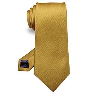 JEMYGINS Jaune Foncé Cravate Cousue Main pour Homme - Travail, Fête(17),Jaune Foncé,M (JEMYGINS Tie Official Store, neuf)