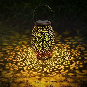 Lanterne solaire exterieur jardin,VIFLYKOO LED Lampe solaire Extérieur IP65 Imperméable Lumière Éclairage Décorative pour Jardin,terrasse,Patio,Pelouse Couloir Allée Fête cour et chemin (nuokewei, neuf)
