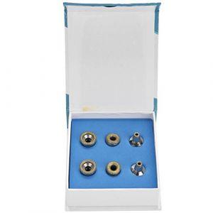 6Pcs Diamant de Remplacement Diamant Microdermabrasion Dermabrasion Conseils Filtre en Acier Inoxydable (Nikou, neuf)
