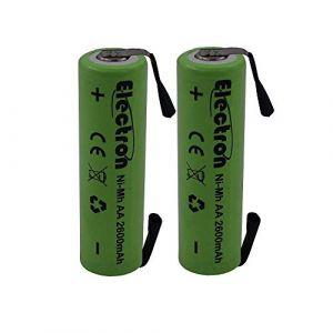 Electron Paire de piles rechargeables de type AA, avec patte à souder pour pack de batteries, Ni-Mh - Tension : 1,2V - Capacité : 2600mAh (tancredielettronica, neuf)