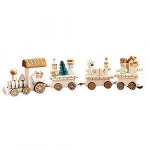 Train de Noel HIver Holiday Train en Bois Enfant Cadeau Noël Decoration (C) (Ouneed, neuf)