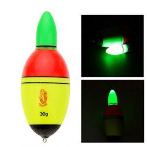 KaariFirefly Lumineux Flotteur de pêche électronique Night Light Pêche Bobber Tackle Accessoires, Multicolore, 30g (KaariFirefly, neuf)