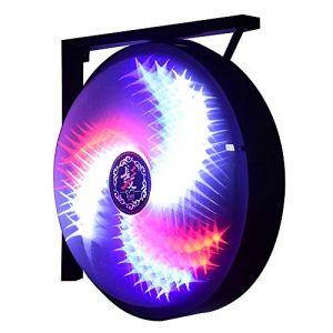 Éclairage Barber Pole Coiffure Demi-cercle Coiffure Clignotant Bleu Rouge Blanc Rayure Éclairage Bandes Rotatives avec Ampoule LED (HaoMaiJia, neuf)