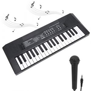 Clavier électronique portable Clavier de piano à 37 touches avec microphone avec fonction d'enregistrement Clavier électrique multifonction pour enfant adulte Jouet clavier pour enfants (Gerioie, neuf)