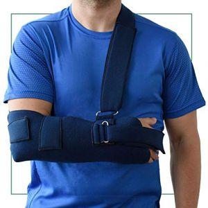 ORTONES | Écharpe de bras et d'immobilisation épaule (Taille unique) bleue. (Comercial Nespral, neuf)