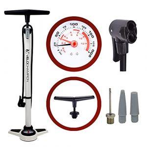 VeloChampion Pro Pompe a Pied Cycliste Haute Pression Pro High Pressure Track Pump (Blanc) (Maxgear Ltd, neuf)