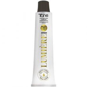Tahe – Lumière Express – Teinture de cheveux, coloration professionnelle et permanente, 100 ml – Ton 7.1 blond moyen cendré (Capelli24, neuf)