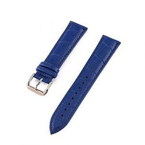 Montre Bracelet Ceinture Femme Bracelets en Cuir véritable Bracelet Band Multicolor Regardez Les Bandes, Bleu, 16mm (songhao30736269, neuf)