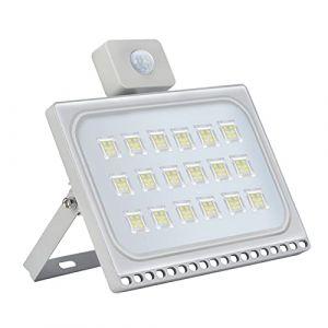 100W Projecteur LED Exterieur détecteur de Mouvement Etanche IP65 10000LM Lampe de sécurité 6500K Blanc froid Spot LED Exterieur Détecteur pour Jardin, Garages,Terrasse [Classe énergétique A+] (LEDAAAlight, neuf)
