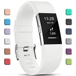 Gogoings Bracelet pour Fitbit Charge 2 - Bracelet Silicone Fitbit Bande de Rechange Réglable Souple Sport Compatible avec Fitbit Charge2 pour Femme & Homme (sans Montre) (CHENZHILIN, neuf)