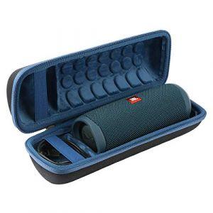 Khanka Dur Cas étui de Voyage Housse Porter pour JBL Flip 5 Enceinte Bluetooth Portable (Zip Bleu) (Khankastore-EU, neuf)