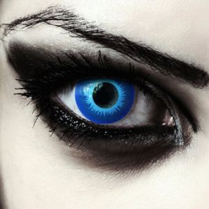 """Lentilles de couleur bleu sans correction pour maquillage elfe GOT marcheur blanc costume + Récipient gratuit - perfectionné son costume d'Halloween ou carnaval """"Blue Elfe"""" (Designlenses, neuf)"""
