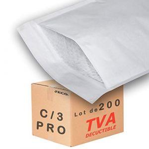 JECO - 200 Enveloppes à bulles d'air pochettes matelassées d'expedition PRO taille C/3 int. 150 x 220 mm (JECO-DISTRIBUTION, neuf)