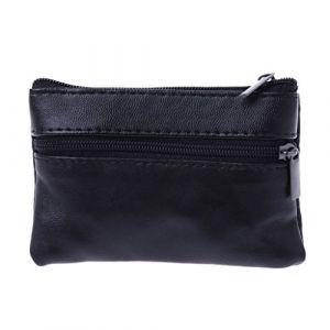 Cuigu Porte-monnaie Noir Pour poches pantalon ou veste Homme femmes Carte Coin Porte-clés Zip En Cuir Portefeuilles Poche (Cuigu, neuf)
