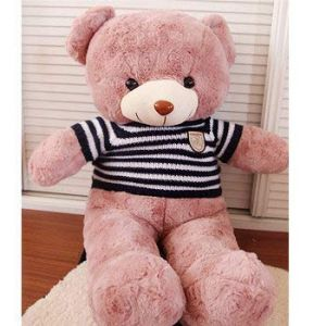 Rose Teddy Bear Holds A Bear Doll, Plusteddy Teddy Bear Doll, Rag Doll, Birthday Present Ours Bleu 80 Cm (lizhaowei531045832, neuf)
