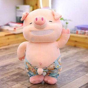 Jouet En Peluche Petit Cochon Sexy, Oreiller De Cochon De Plage En Peluche Animal Mignon, Jouet Pour Poupée, Cadeau D'Anniversaire 45Cm Blanc (lizhaowei531045832, neuf)